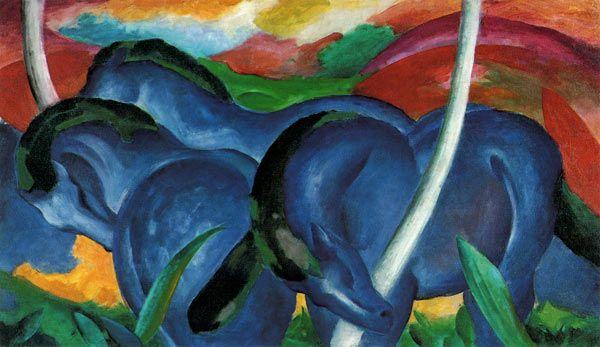 Afbeelding Franz Marc - Franz Marc Grote blauwe paarden