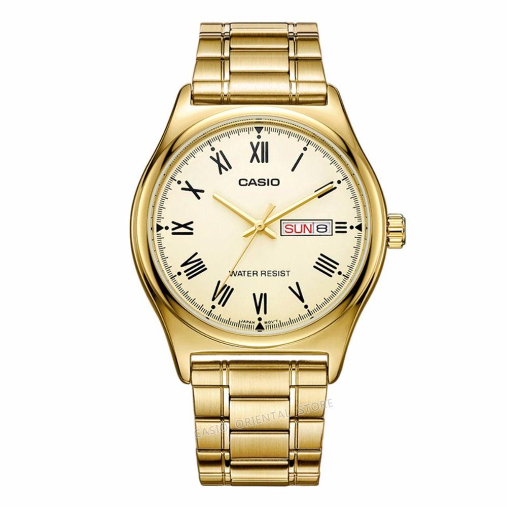 Casio Watch Top Brand Quartz Gold Wrist Watches Men MTP-V006G-9B fashion  Casual 8c808429f3