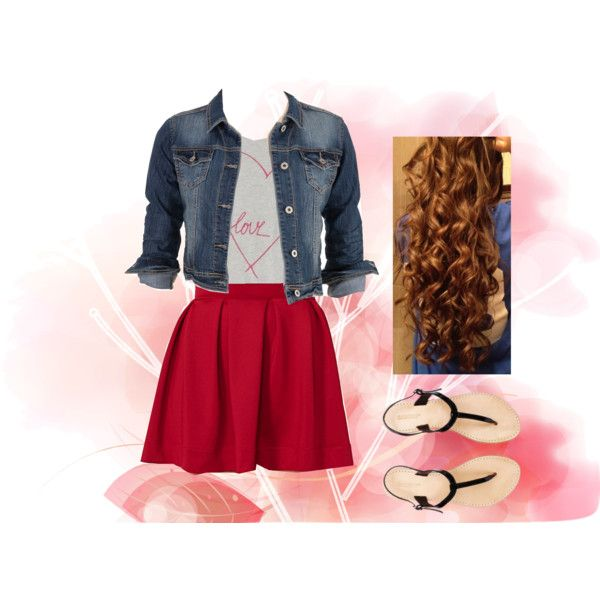 Valentines Day Outfit. By music-girl11 Cute!!