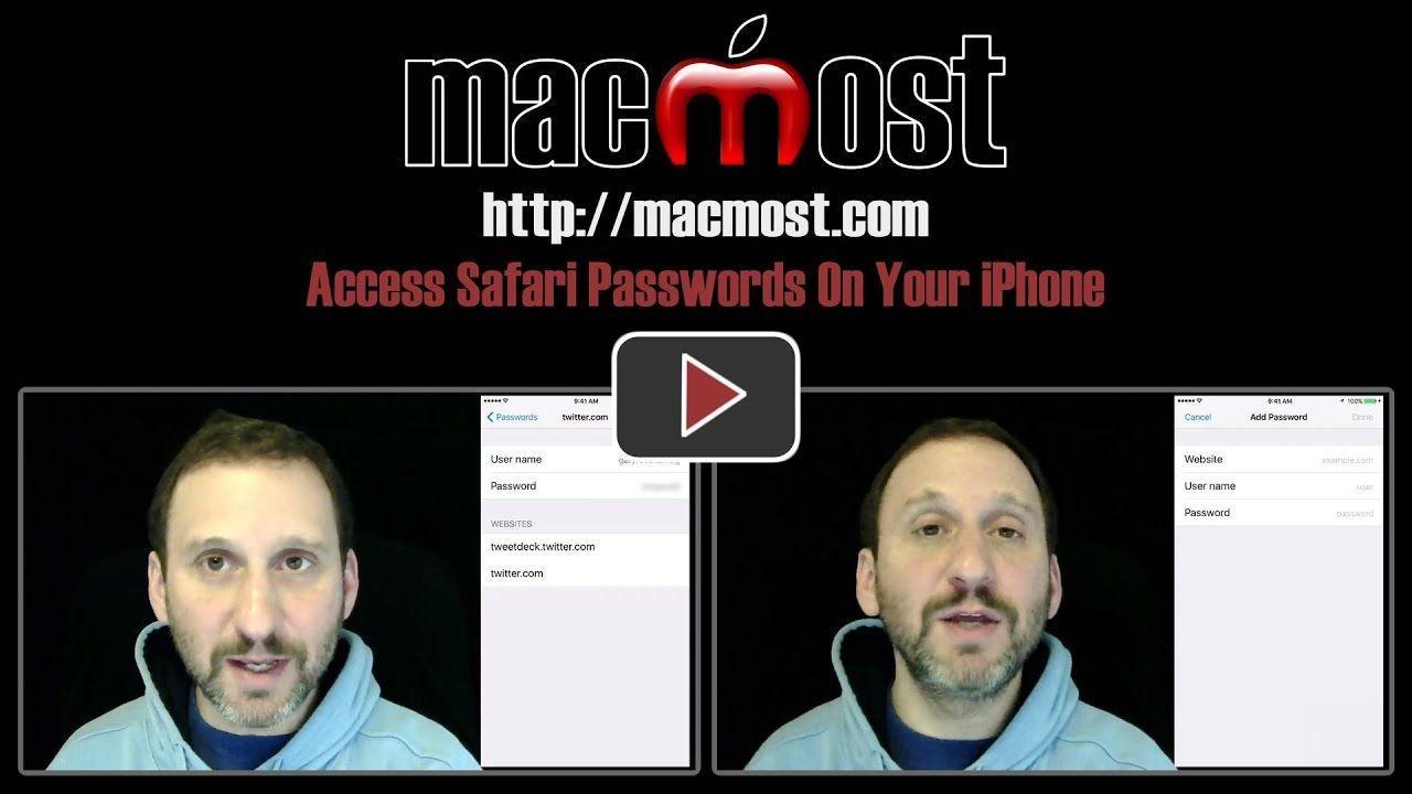 Access safari passwords on your iphone iphone safari