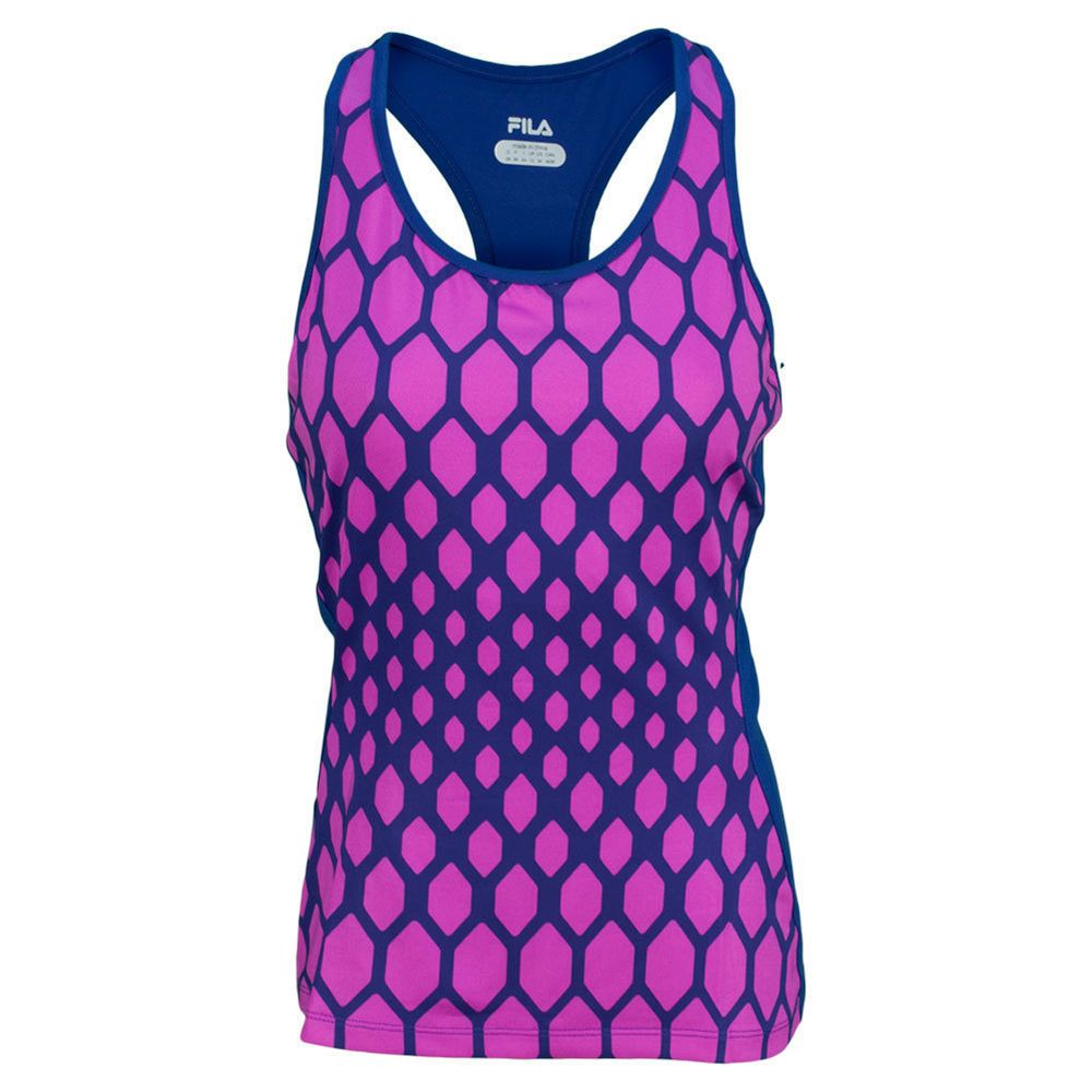 The new Fila Center Court Printed Racerback--seen on many tennis players recently--snag it in our shop-we ship FREE