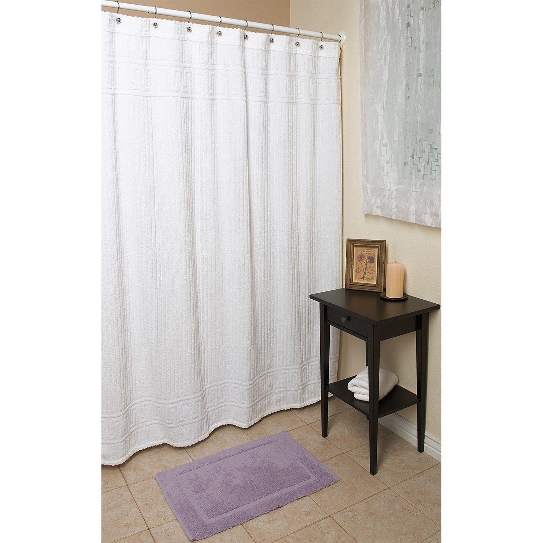 "Espalma Terry Shower Curtain - 72x72"", Cotton in Greek Key"