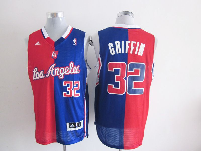 0807a231f Adidas NBA Los Angeles Clippers 32 Blake Griffin Swingman Split Blue Red  Jersey
