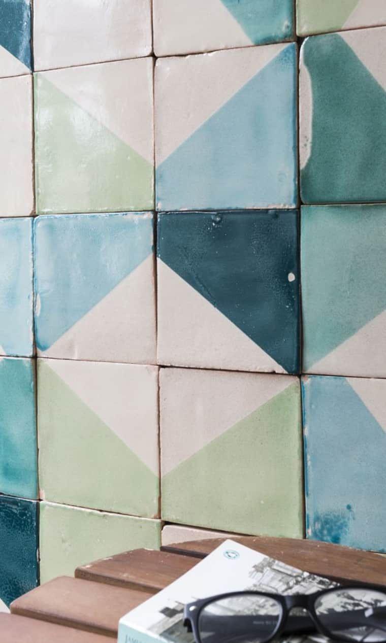 Patterned Ceramic Tiles Vintage Moroccan Ceramic Tiles Backsplash Wall Tiles #05