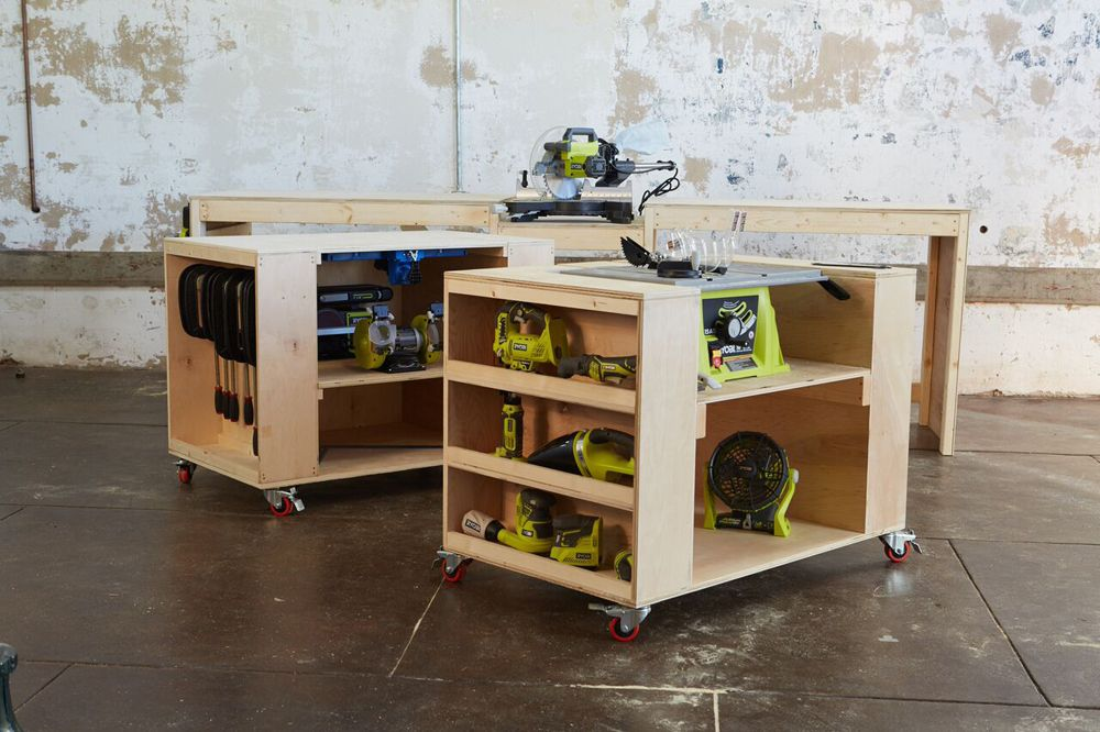 Ana White | Ultimate Roll Away Workbench System for Ryobi Blogger ...