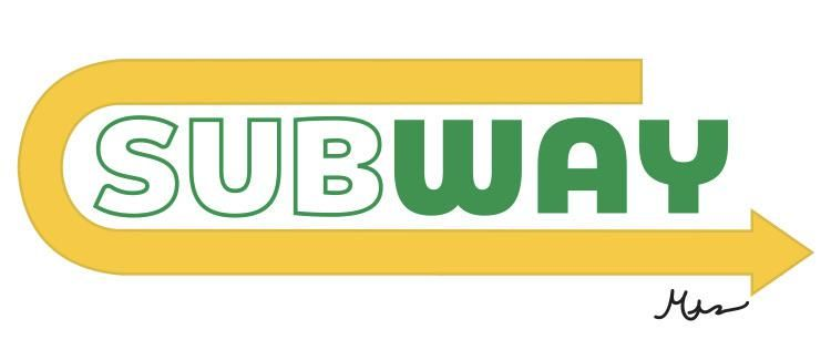 Redesigning The Subway Logo On Illustrator Trying To Show That Any Company Can Be Remade At Any Time Logo Designer Graphic Subway Logo Subway Logo Design