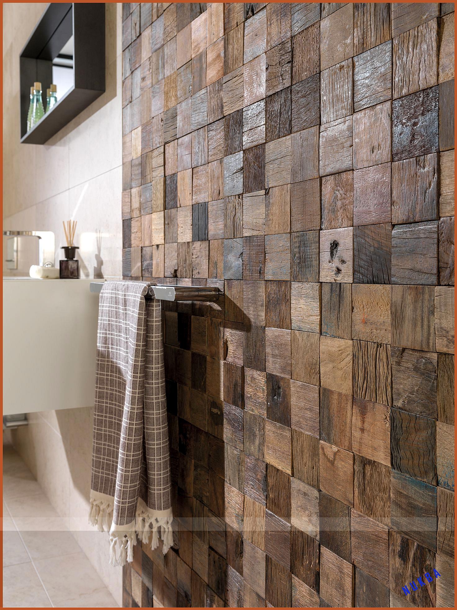 Holzoptik In Raffiniertem Mosaikdesign In 2020 Holzwandgestaltung Into The Woods Holzoptik