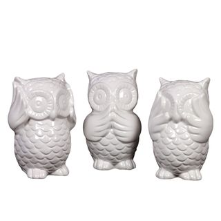 Overstock Com Online Shopping Bedding Furniture Electronics Jewelry Clothing More Ceramic Owl Urban Trends Collection Contemporary Decorative Objects
