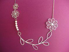 Silver filigree necklace by Aleksandra Ivanova.