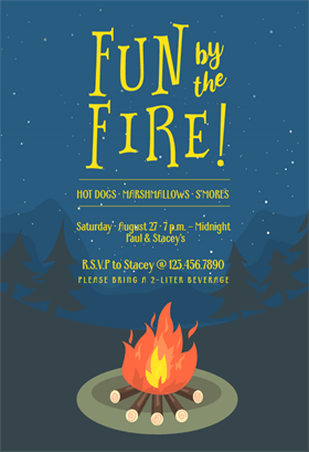 Bonfire Bug Printable Invitation Template Customize Add Text - Elegant birthday invitation free templates