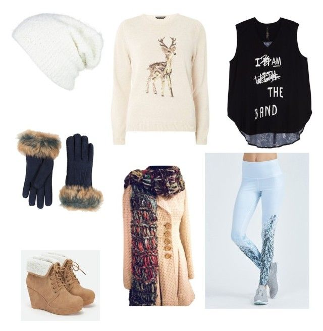 """Alexa winter"" by ana-vivier ❤ liked on Polyvore featuring Alo, Dorothy Perkins, Melissa McCarthy Seven7, JustFab, Free People, UGG and plus size clothing"