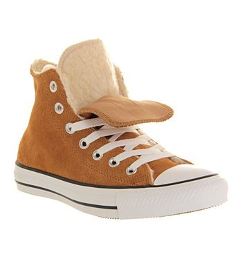 Converse All Star Hi Double Tongue Chestnut Beige Shearling - Unisex Sports