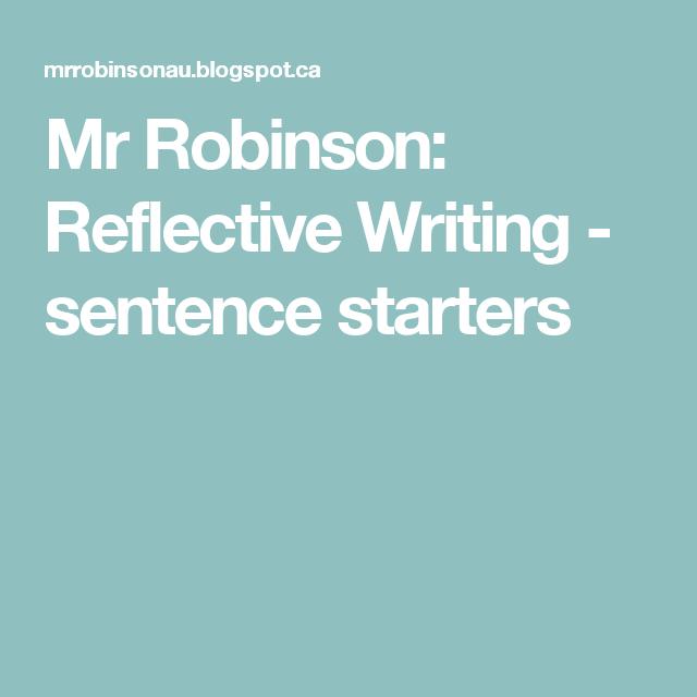 A self reflection essay