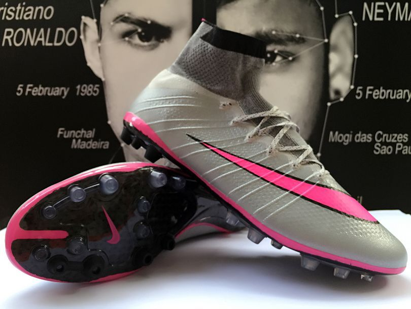 Nike Mercurial Superfly FG Men Outdoor Soccer Cleats Silver