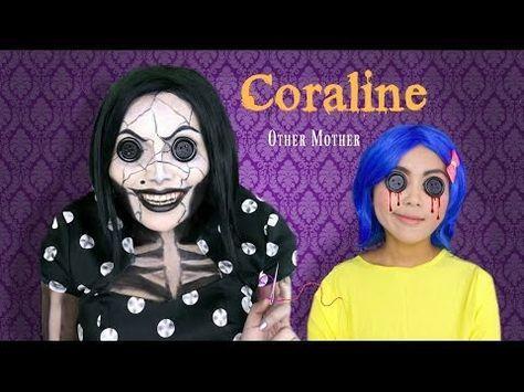 Coraline S Other Mother Makeup Tutorial Youtube Mothers Makeup Daughter Halloween Costumes Mother Daughter Halloween Costumes
