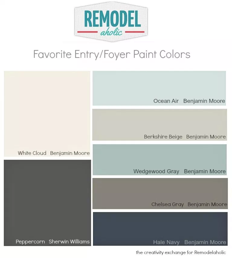 Favorite Entryway and Foyer Paint Colors #indoorpaintcolors