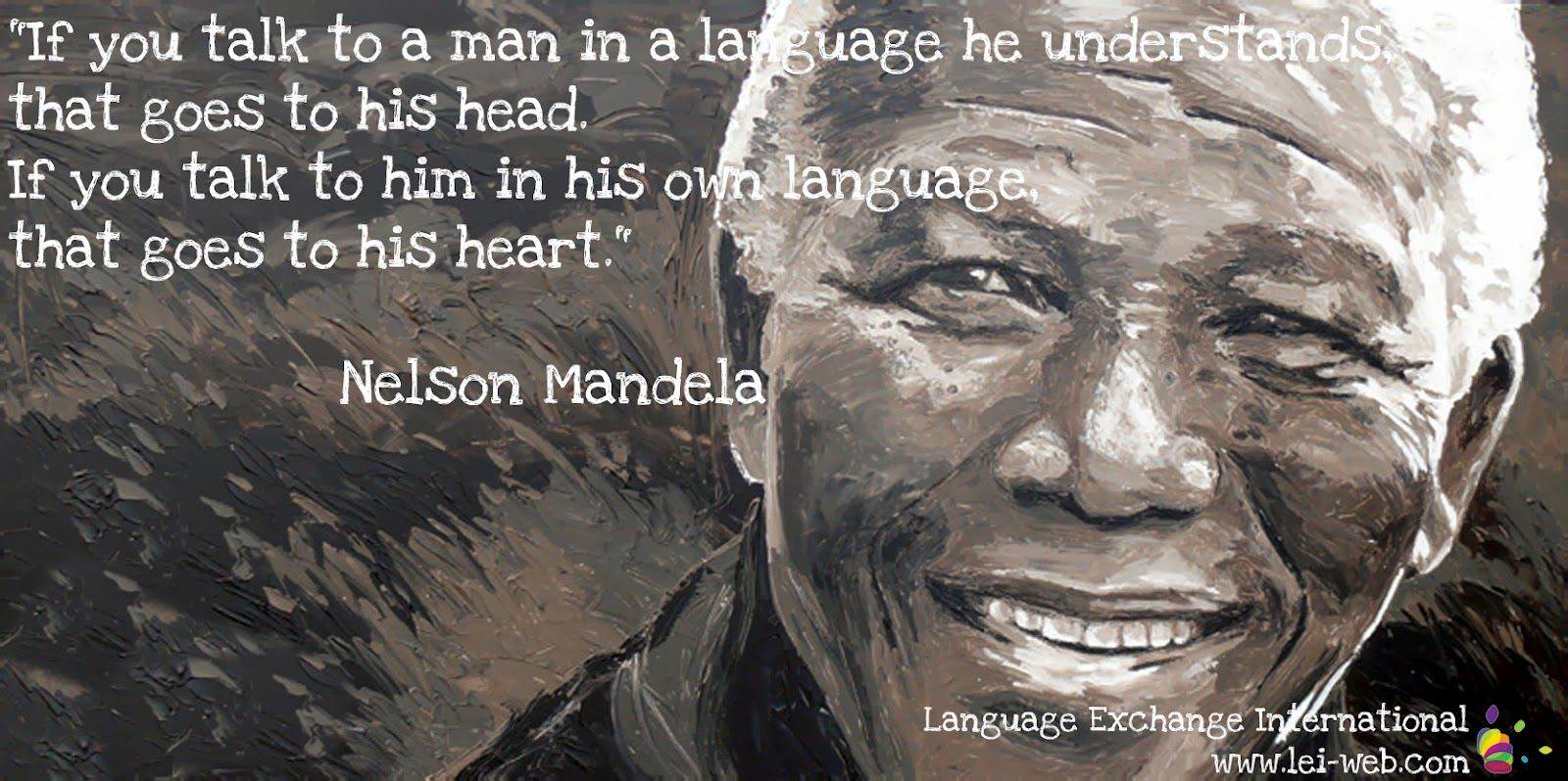 Nelson Mandela Art To Him In His Own Language That
