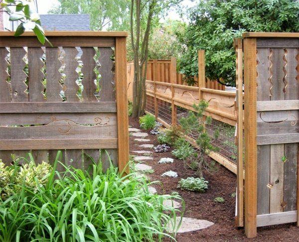 95 id es pour la cl ture de jardin palissade mur et. Black Bedroom Furniture Sets. Home Design Ideas