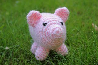 Varken haken   draadenpapier   Gratis patroon van Crochet Geek #haken #varken #big #crochet  #pig