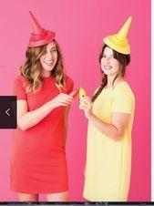 Senf und Ketchup Kostüme   Mustard and ketchup costumes, #Costumes #Ketchup #Kostüme #Mustard... #déguisementsdhalloweenfaitsmain