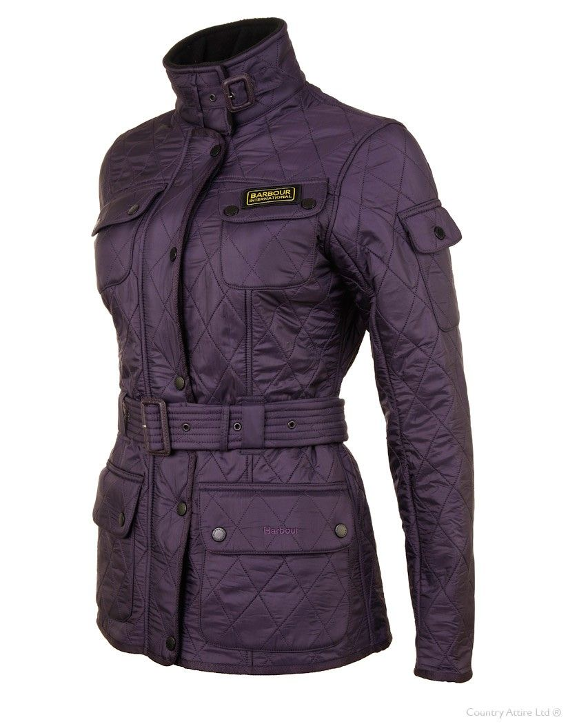 Barbour Ladies' International Polarquilt Jacket - Purple ... : international quilted jacket - Adamdwight.com