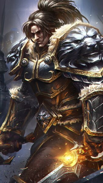 Varian Wrynn Knight Alliance Army Wow 4k Hd Mobile Smartphone And Pc Desktop Laptop Wallpape World Of Warcraft Wallpaper Varian Wrynn World Of Warcraft Game