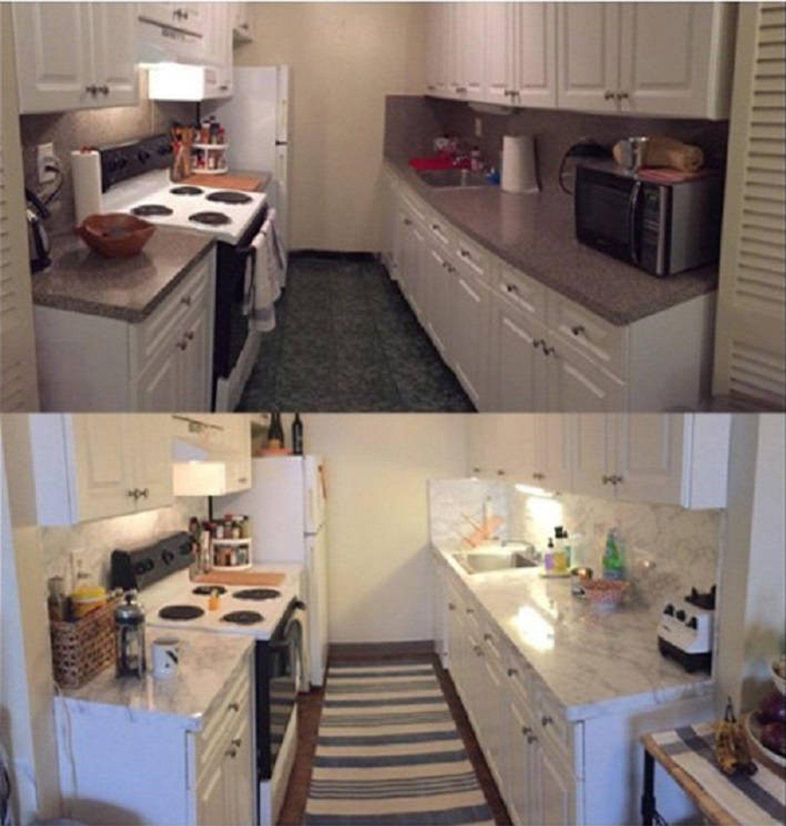 Update Countertop Self Adhesive White Marble Granite Film Not Etsy Kitchen Decor Apartment Diy Kitchen Countertops Replacing Kitchen Countertops