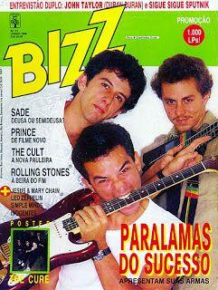 Bizz Com Imagens Rock Nacional Anos 80 Paralamas Anos 90