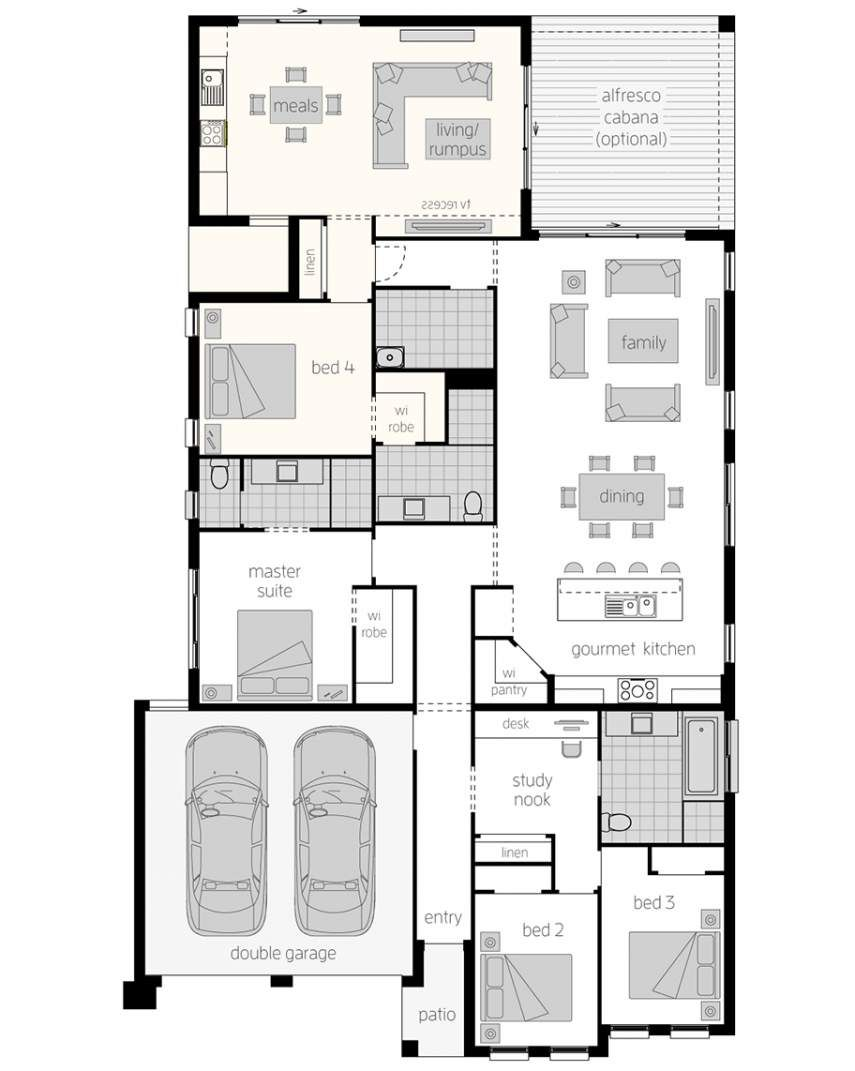 Granny Flat Design Dual Living House Plans Mcdonald Jones Homes Duplex Floor Plans Mcdonald Jones Homes House Plans