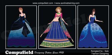 Compufield Fashion Designing Fashion Designing Tutorials Fashion Illustrations Coreldraw Photoshop C Market Design Clothes Design Fashion Design