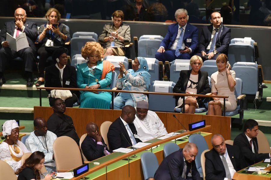Brigitte Macron à l'ONU pour assister au discours de son mari