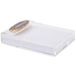 """Acrylic Decorative Tray 7"""" Acrylic Notepad Tray W Natural Agate Decorative Trays"""