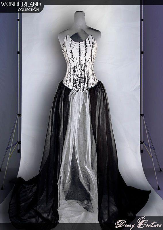 Dark Grey Gothic Formal Dresses