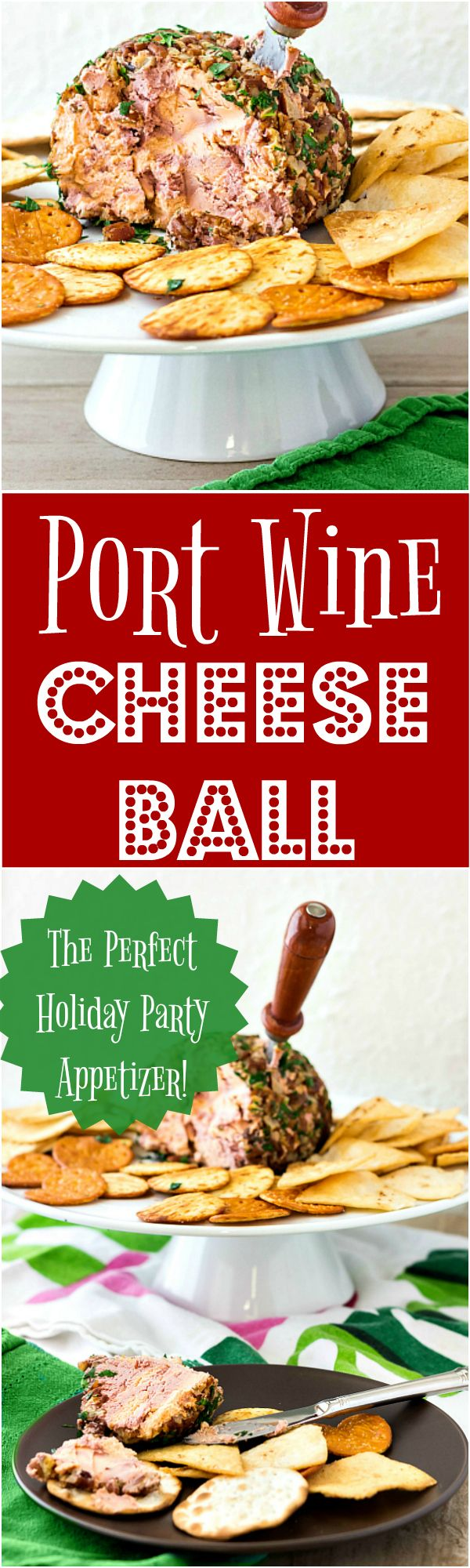 This Port Wine Cheese Ball Recipe Combines Cheddar Cream Cheese And A Port Wine Reduction To Give You The Flavor You L Cheese Ball Cheese Ball Recipes Recipes