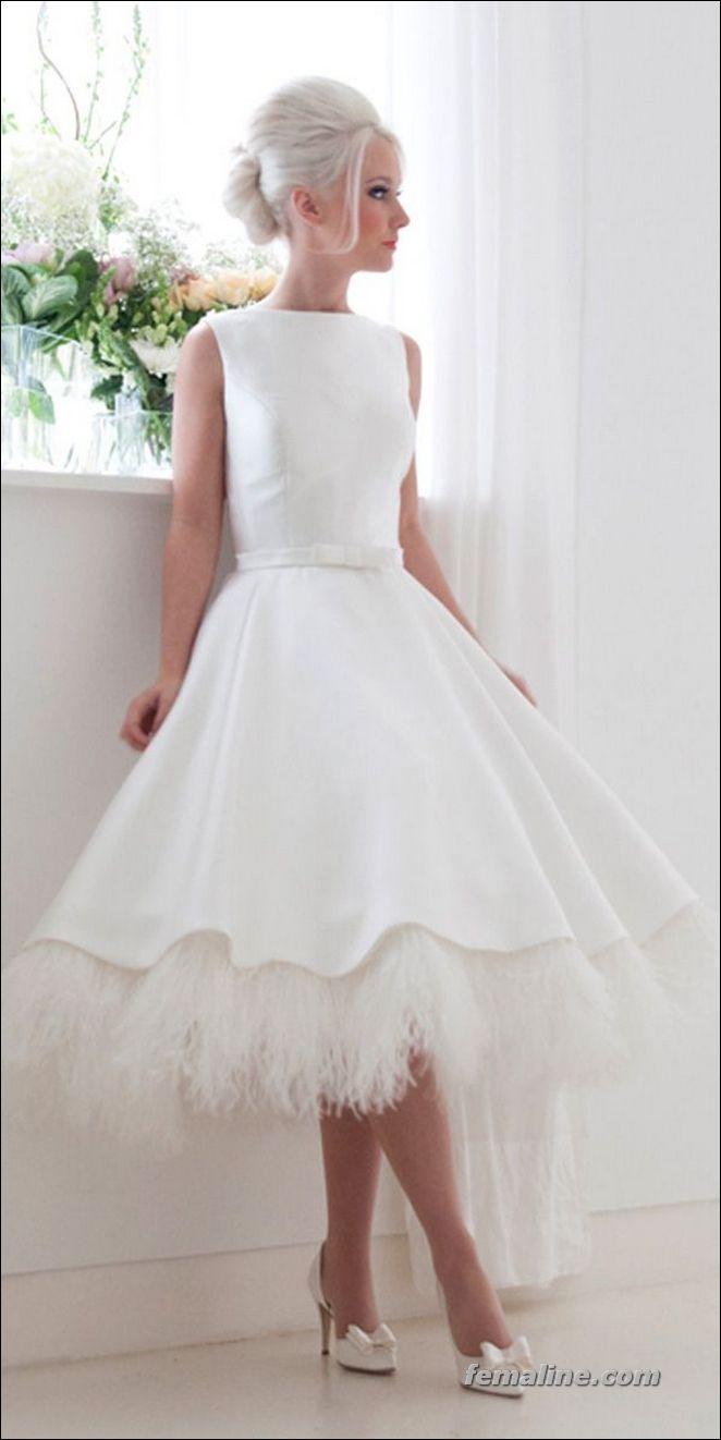 111 Elegant Tea Length Wedding Dresses Vintage   Tea length wedding ...