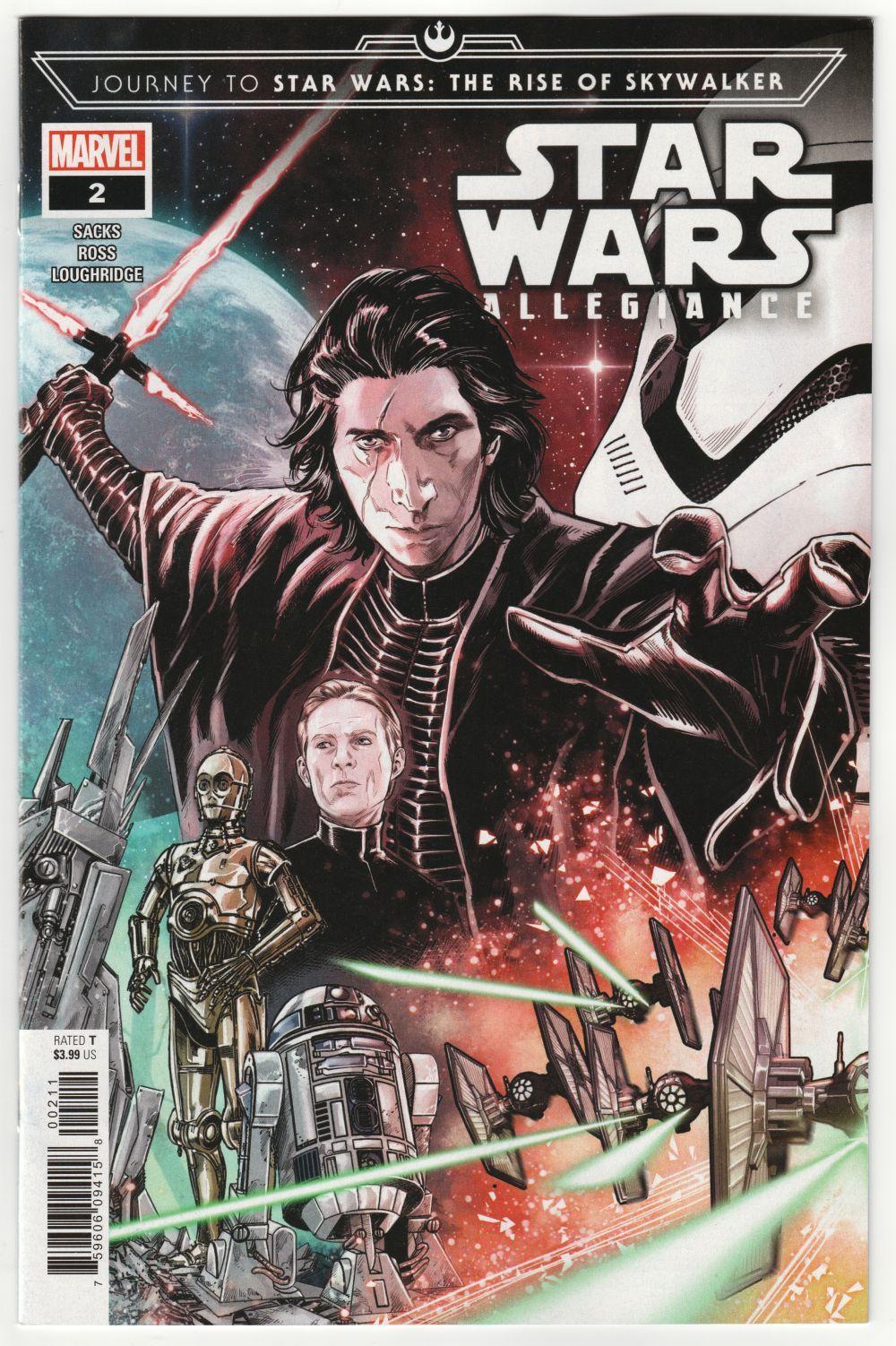 Journey To Star Wars Rise Of Skywalker Allegiance 2 Marvel 2019 Nm Star Wars Comics Star Wars Books Star Wars