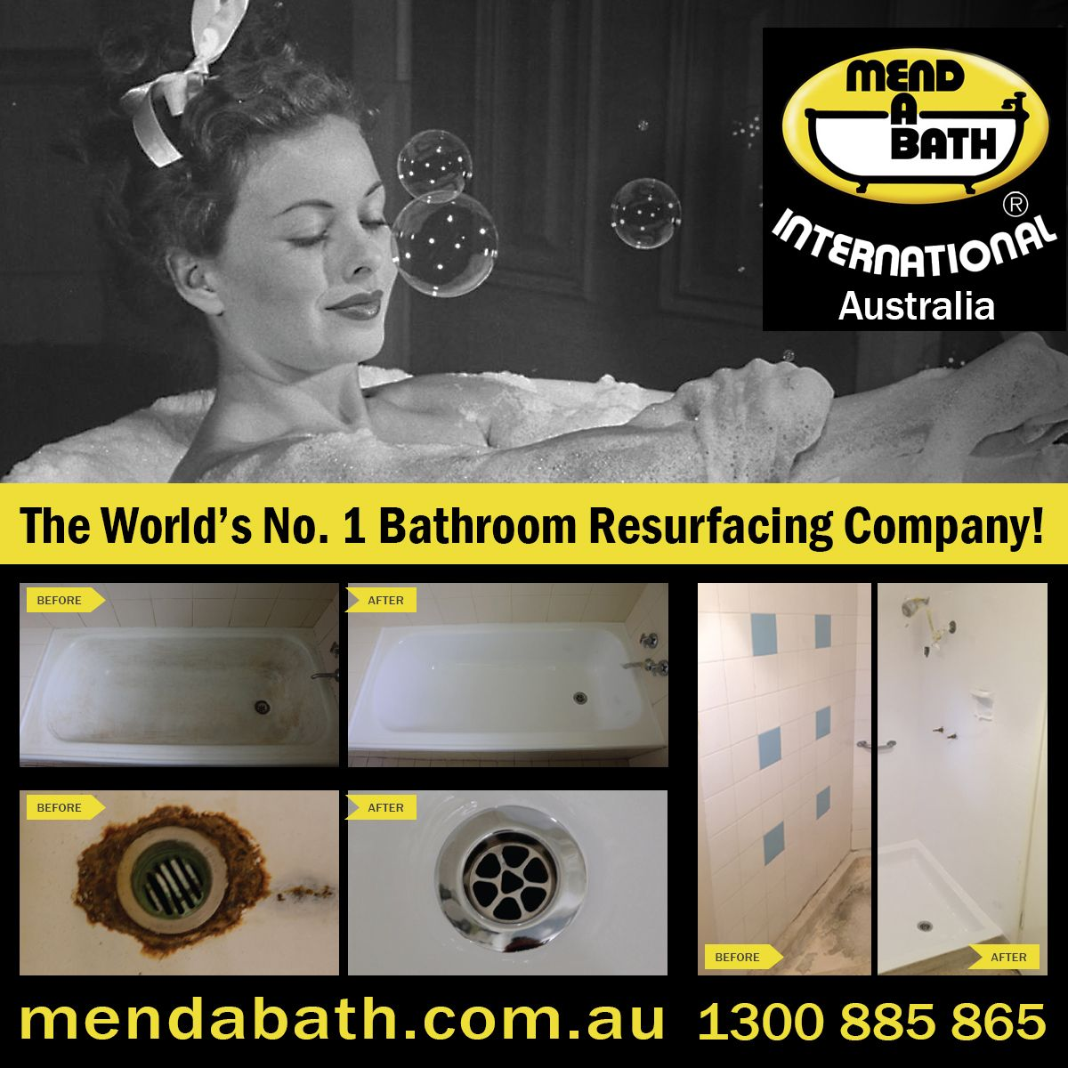 Mend A Bath International Australia Quality Bathroom ...