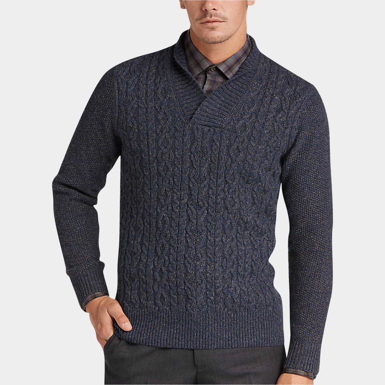 Buy a Joseph Abboud Indigo Shawl Collar Sweater online at Men's ...