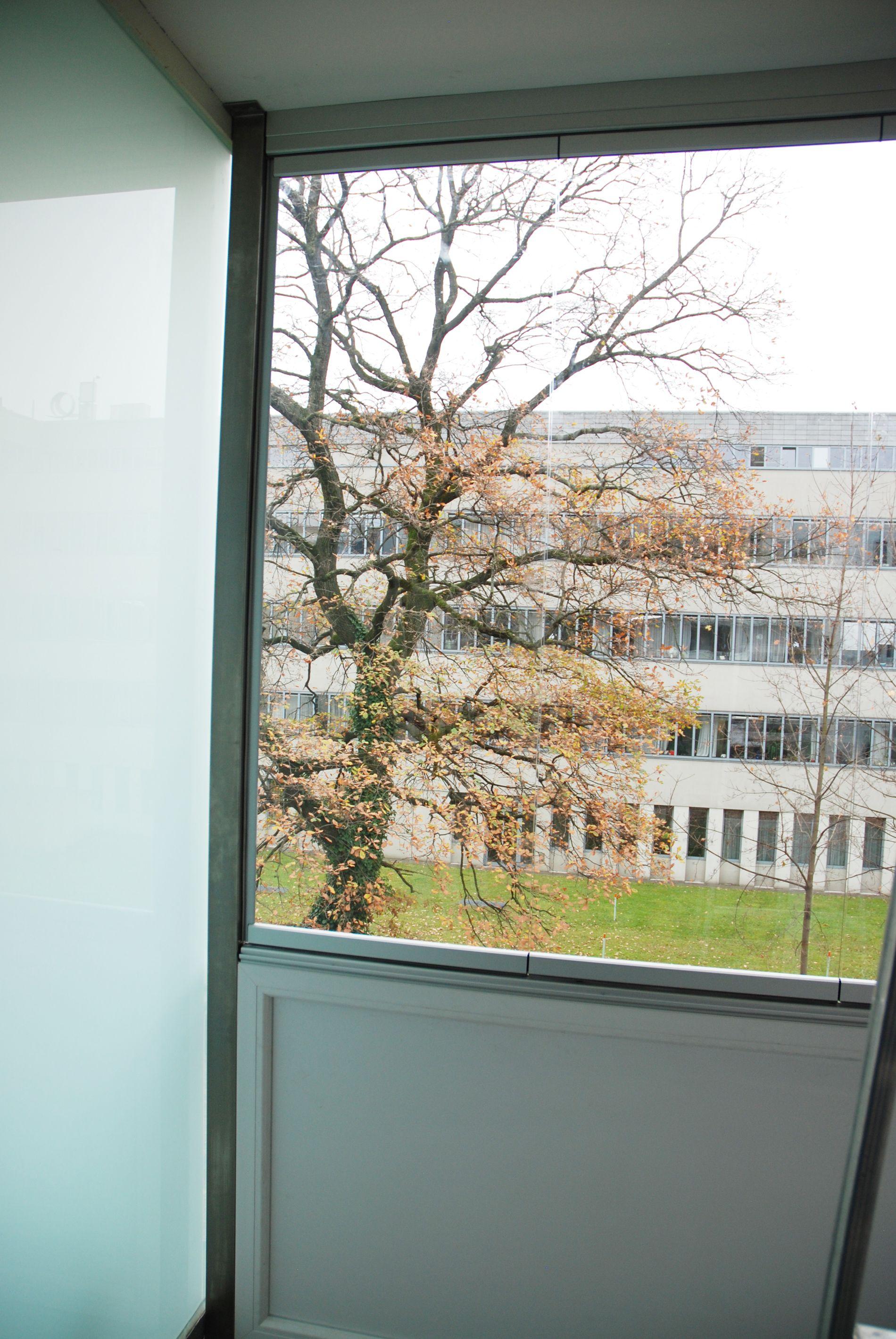 Wetterschutz Balkon transparent Glasschiebetür, Fenster