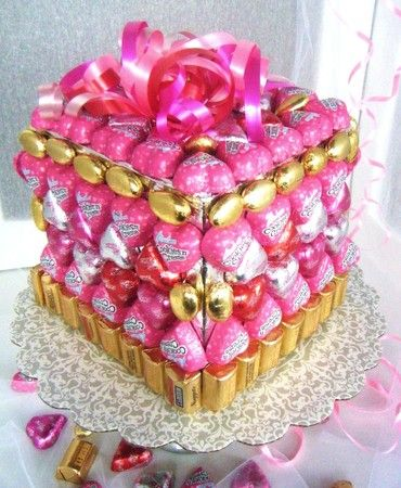 Mother S Day Candy Cake Candy Candy Cakes Candy Gift