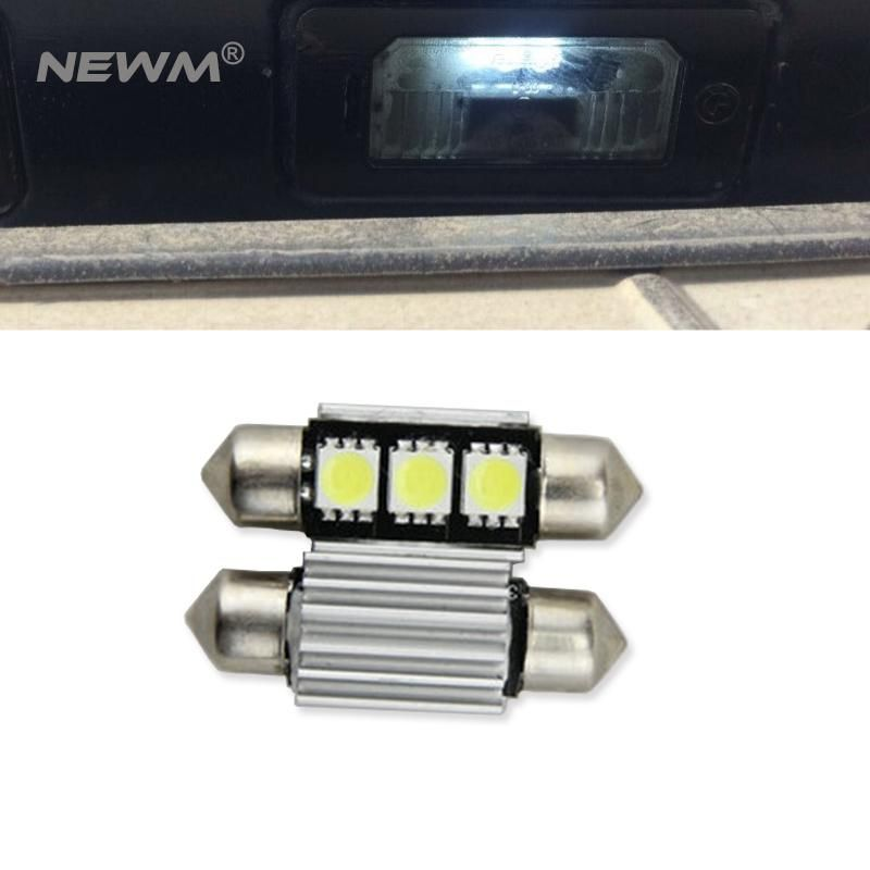 2x Led 36mm White Canbus C5w Bulbs 2835smd Interior Lights License