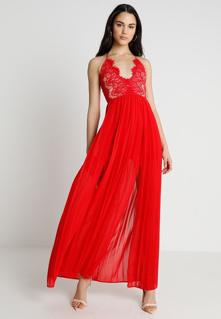 Zalando Maxi Jurk.Eyelash Double Split Maxi Dress Galajurk Red Zalando Nl In