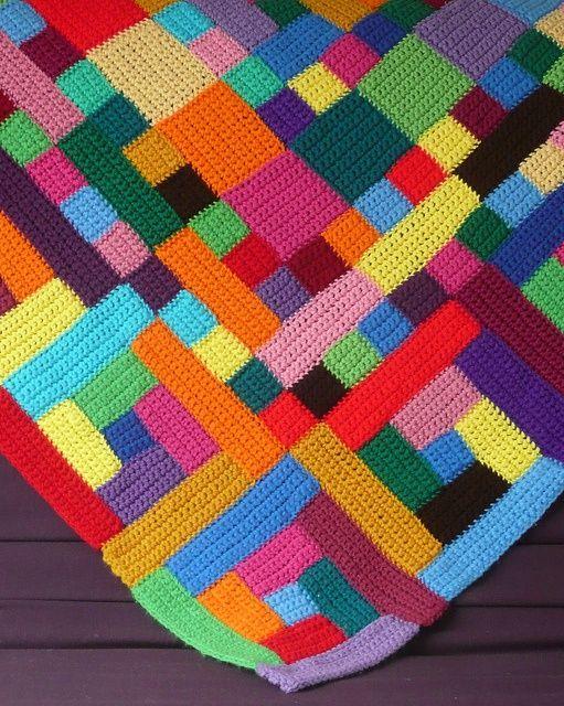 via No Pattern. Crocheted Blanket.   Crocheting   Pinterest ...