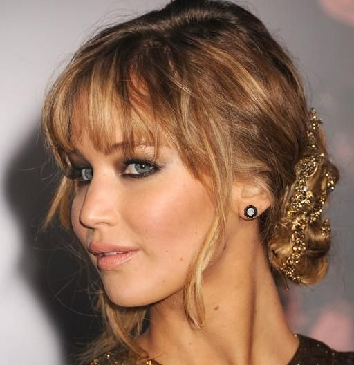 Messy twisted updo hairstyle style me pinterest updo messy 33 beautiful and latest updo hairstyles with bangs 2013 pmusecretfo Choice Image