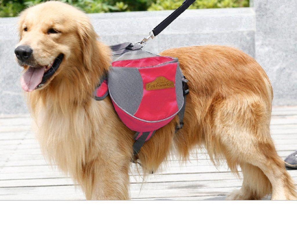 Pet Bags Dogs Backpacks Outdoor Oxford Cloth For Large Dog Golden