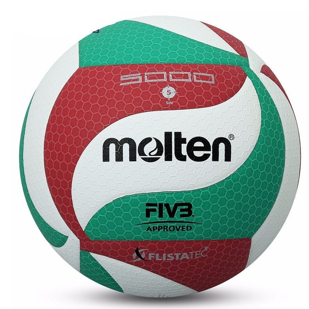 Advertisement Ebay New Molten M5000 Volleyball Ball Official Size V5 Leather Indoor Outdoor Volley Molten Volleyball Volleyballs Volleyball