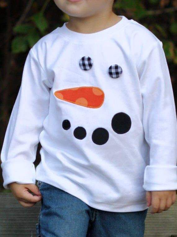 210e09db40 Camiseta muñeco nieve Camisas