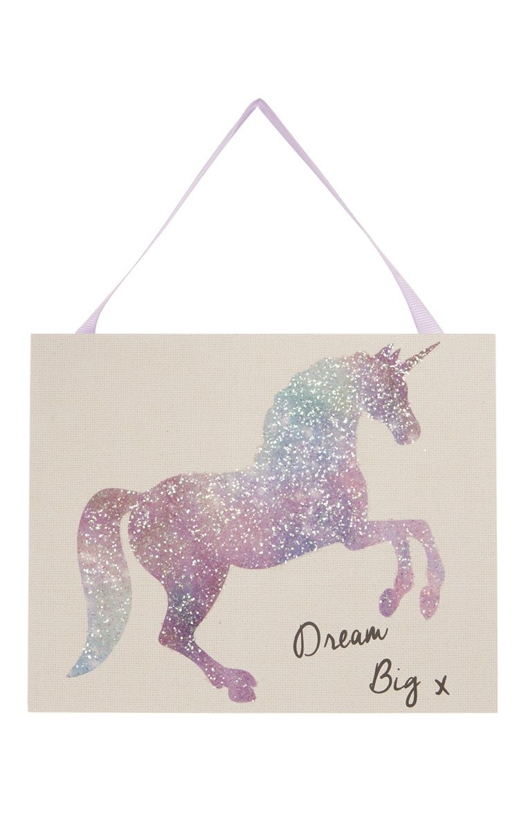Primark   Unicorn Hanging Wall Plaque