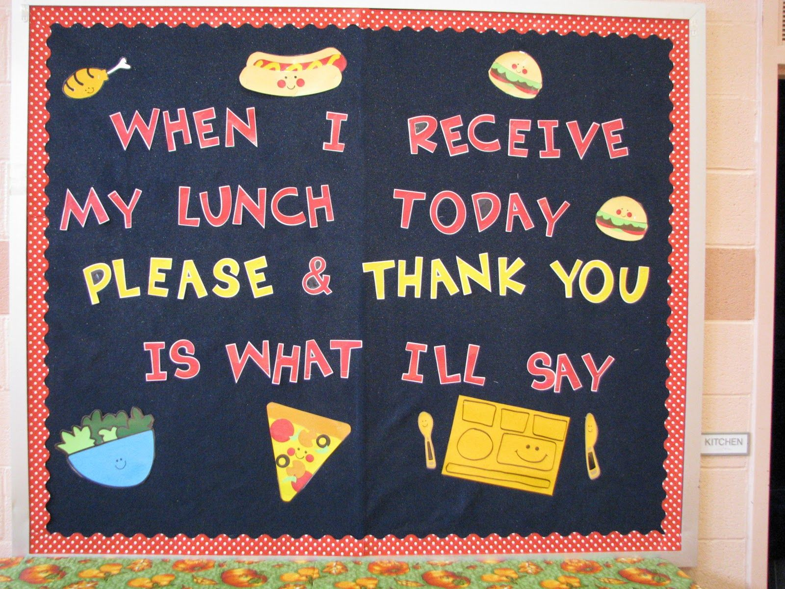 School Cafeteria Bulletin Boards | ... Weeks Ago About The Lack Of Manners  I Was Seeing In The Cafeteria