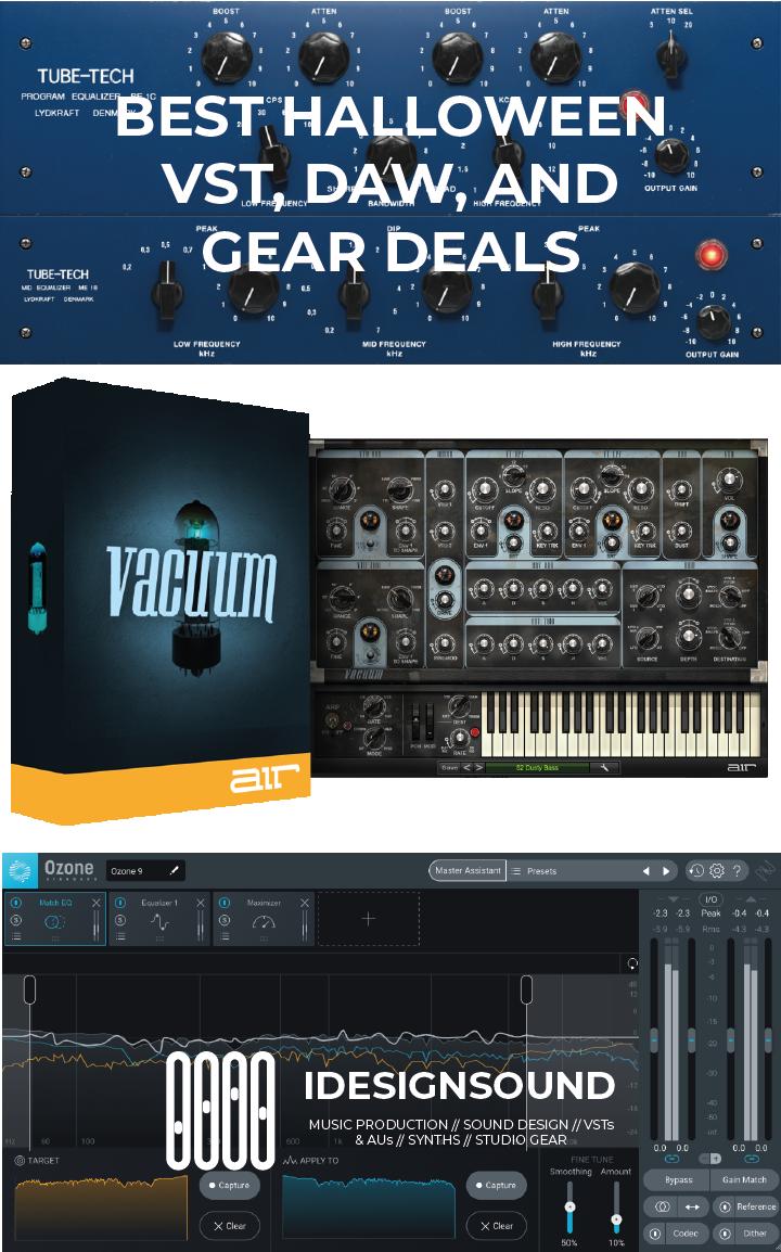 Best Halloween Vst Au Plugin Daws And Music Gear Deals Deal Plugins Sound Design